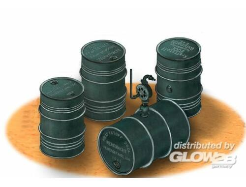 Bronco German WWII 200L Oil Drums 1:35 (AB3575)