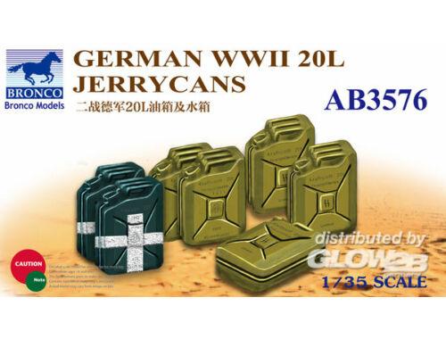 Bronco German WWII 20L Jerrycans 1:35 (AB3576)
