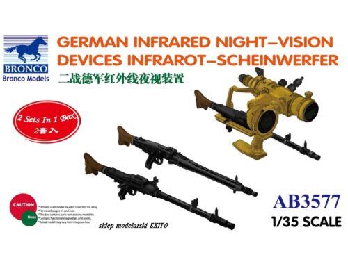 Bronco German Infrared Night-Vision Devices Infrarot-Scheinwerfer 1:35 (AB3577)