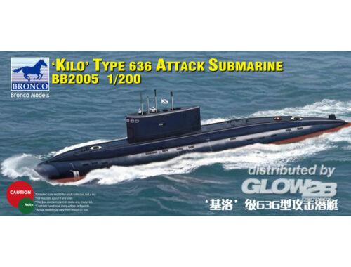 Bronco Russian Kilo Type 636 Attack Submarine 1:200 (BB2005)