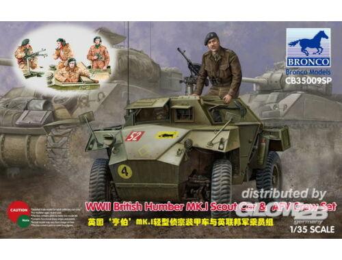 Bronco WWII British Humber MK.I Scout Car   AFV Crew Set 1:35 (CB35009SP)
