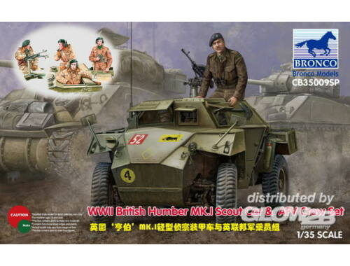 Bronco WWII British Humber MK.I Scout Car   AFV Crew Set 1:35 (CB35009SP)