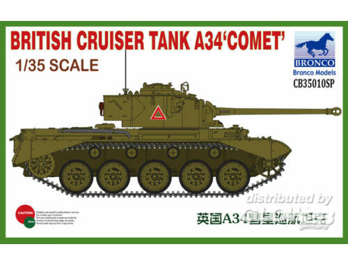 Bronco British Cruiser Tank A34 COMET 1:35 (CB35010SP)