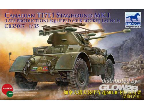 Bronco Canadian Staghound Mk.I Late Production w/60lb rocket 1:35 (CB35017)