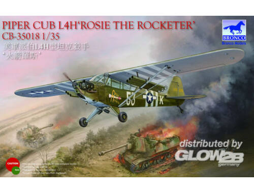 Bronco Piper Cub L4H Rosie the Rocketer 1:35 (CB35018)