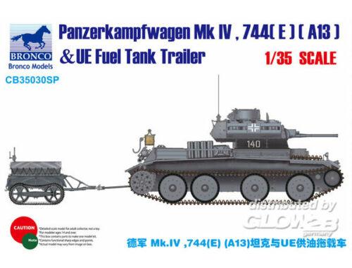 Bronco Panzerkampfwagen Mk.IV,744(E)(A13)  UE Trailer 1:35 (CB35030SP)