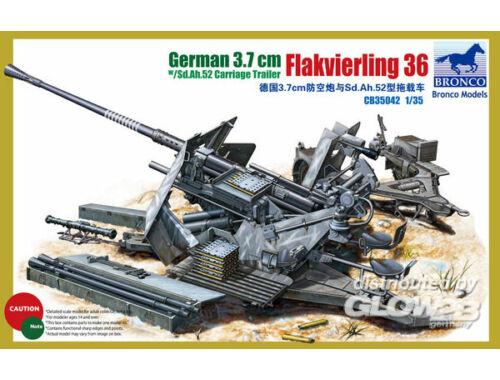 Bronco German 3.7cm Flak36 1:35 (CB35042)