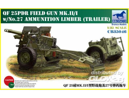 Bronco QF 25pdr Field Gun Mk.II/I 1:35 (CB35046)