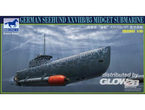 Bronco German Seehund XXVII B/B5 Midget Submari (2 options in 1) 1:35 (CB35053)
