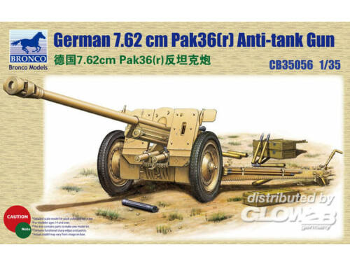 Bronco German 78.2mm Pak36(r)Anti-Tank Gun 1:35 (CB35056)