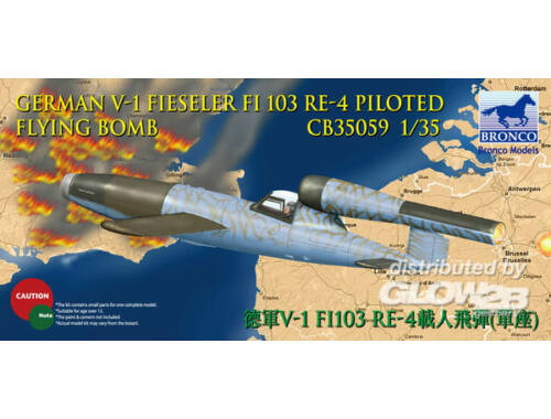Bronco V-1 Fi103 Re 4 Piloted Flying Bomb 1:35 (CB35059)