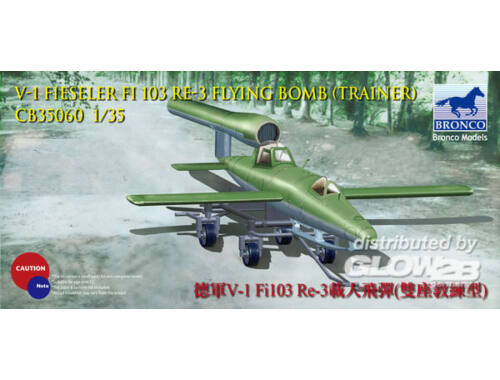 Bronco V-1 Fi103 Re 3 Piloted Flying Bomb (Two Seats Trainer) 1:35 (CB35060)