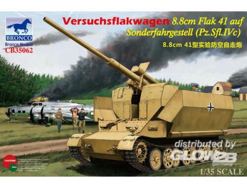 Bronco Versuchsflakwagen 8.8cm Flak 41 auf Sonderfahrgestell (Pz.SFL.IVc) 1:35 (CB35062)