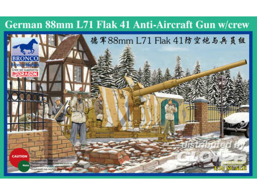 Bronco German 88mm L71 Flak 41 Anti-Aircraft Gun w/Crew 1:35 (CB35067)