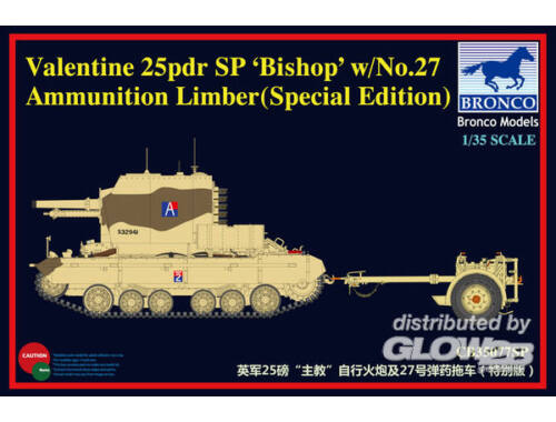 Bronco Valentine SPG Bishop w/No.27 Limber 1:35 (CB35077SP)