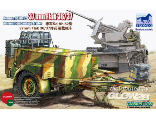 Bronco German Sd.Ah.52 37mm Flak Ammunition Carriage Trailer 1:35 (CB35079)