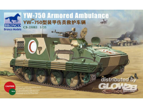Bronco YW-750 Armored Ambulance Vehicle 1:35 (CB35083)