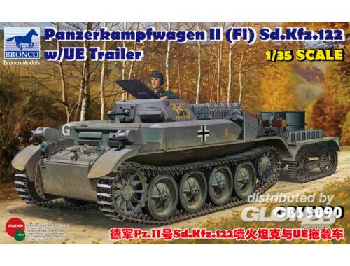 Bronco PzKpfw.II(F)Sd.Kfz.122 w/UE Trailer 1:35 (CB35090)
