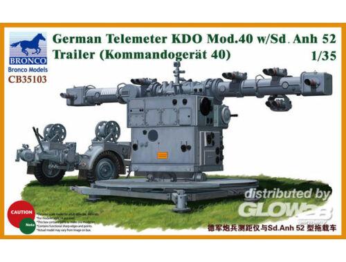Bronco German Telemeter KDO Mod.40 w/Sd.Anh 52 Trailer (Kommando-Gerät 40) 1:35 (CB35103)
