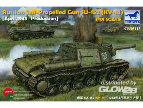 Bronco Russian Self-Propelled Gun SU-152(KV-14) (March 1943 Produktion)-Early Version 1:35 (CB35113)