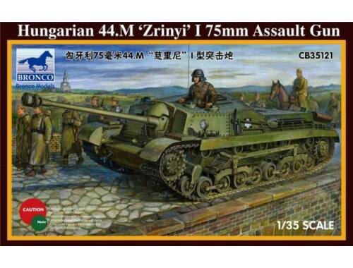 Bronco Hungarian 75mm Assault Gun 44M Zrinyi I 1:35 (CB35121)