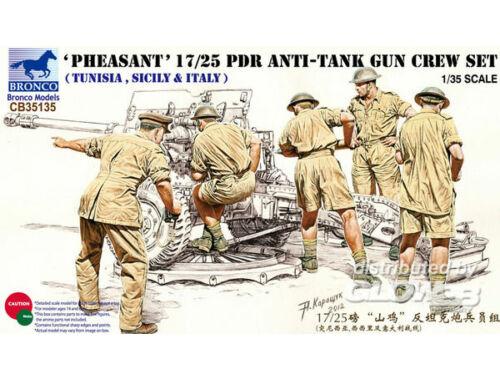 Bronco 17/25 pdr Anti-Tank Gun Crew Set 1:35 (CB35135)