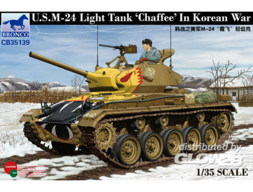 Bronco US Light Tank Chaffee in Korean War 1:35 (CB35139)