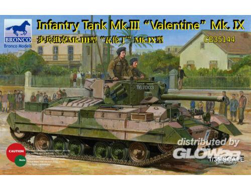 Bronco Infantry Tank Mk.III Valentine Mk.IX 1:35 (CB35144)