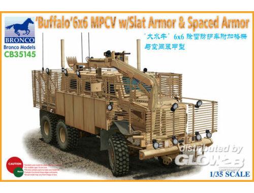 Bronco BUFFALO 6x6 MPCV w/Slat Armor   Spaced Armor Version 1:35 (CB35145)