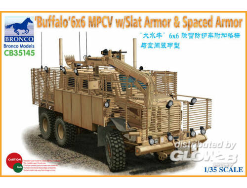 Bronco BUFFALO 6x6 MPCV w/Slat Armor   Spaced Armor Version 1:35 (CB35145)