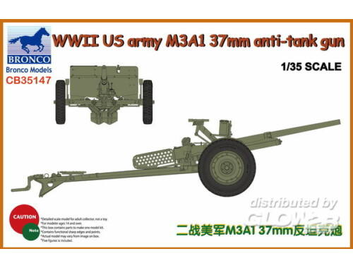 Bronco WWII US Army M3A1 37mm Anti-Tank Gun 1:35 (CB35147)