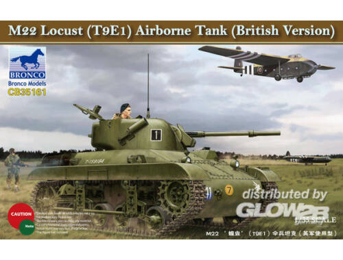 Bronco M22 Locust (T9E1) Airborne Tank (British Version) 1:35 (CB35161)