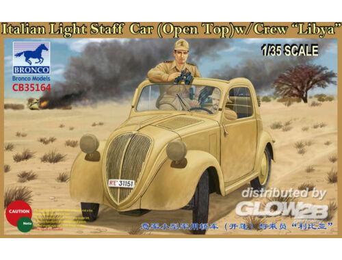 Bronco Italian Light Staff Car(Open Top) w/Crew Libya 1:35 (CB35164)