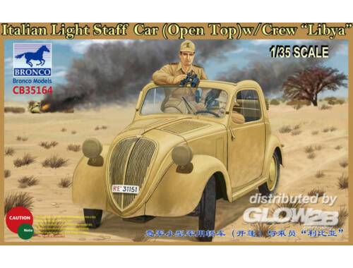 Bronco Italian Light Staff Car(Open Top) w/Crew Libya 1:35 (CB35164)