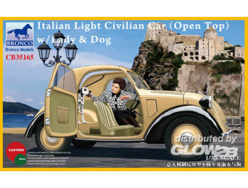 Bronco Italian Light Civilian Car(Open Top) w/Lady   Dog 1:35 (CB35165)
