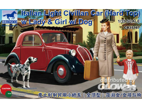 Bronco Italian Light Civilian Car (Hard Top) w/Lady   Girl 1:35 (CB35167)