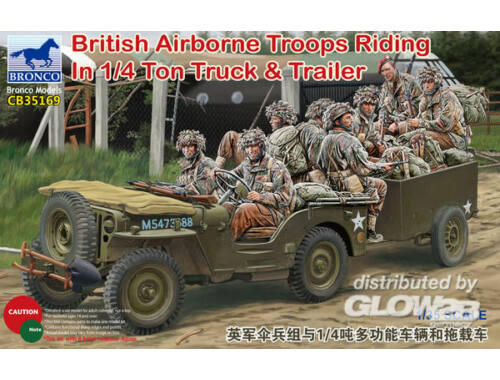 Bronco British Airborne Troops Riding In 1/4Ton Truck   Trailer 1:35 (CB35169)