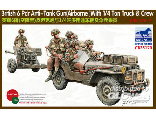 Bronco 6 Pdr Anti-Tank Gun(Airborne)With 1/4Ton 1:35 (CB35170)