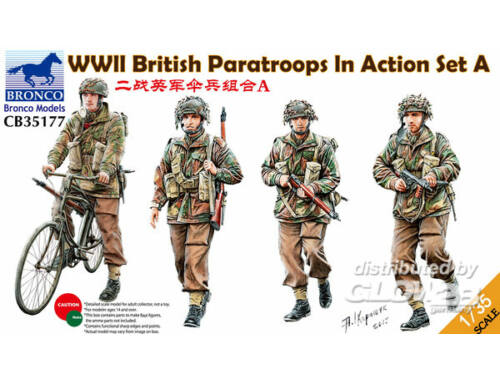 Bronco WWII British Paratroops In Action Set A 1:35 (CB35177)