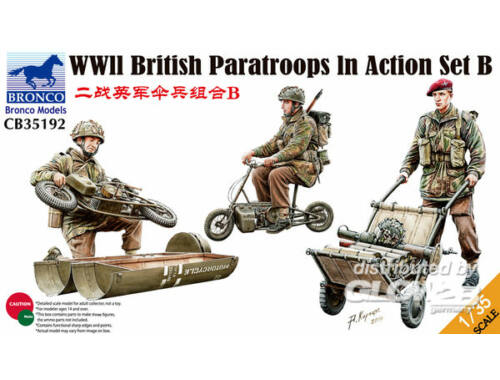 Bronco WWII British Parattroops In Action Set B 1:35 (CB35192)