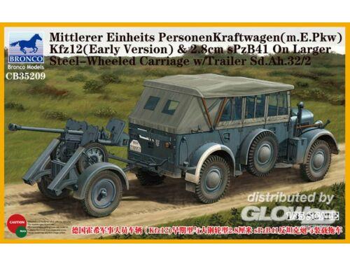 Bronco Mittlerer Einheits PersonenKraftwagen (m.E.PKW)Kfz12(Early Version) 2,8cmSPz 1:35 (CB35209)