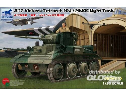 Bronco A17 Vickers Tetrarch MkI/MkICS LightTank 1:35 (CB35210)