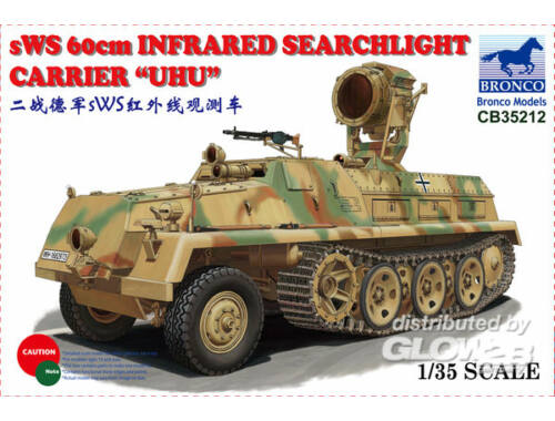 Bronco sWS 60cm Infrared Searchlight CarrierUHU 1:35 (CB35212)