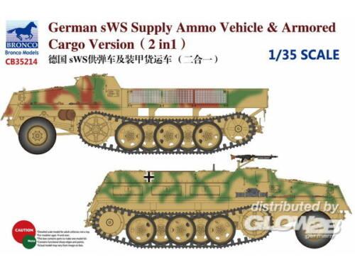 Bronco German sWS Supply Ammo Vehicle   Armored Cargo Version (2 in 1) 1:35 (CB35214)