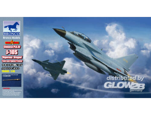 Bronco Chinese J-10S Fighter (Twins seats) 1:48 (FB4005)