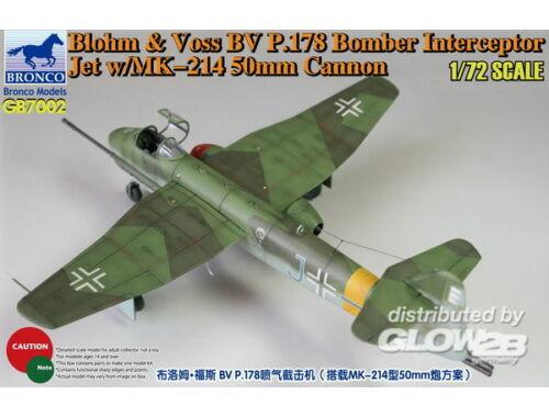 Bronco Blohm Voss P.178 Bomber Interceptor Jet w/MK-214 50mm Cannon 1:72 (GB7002)