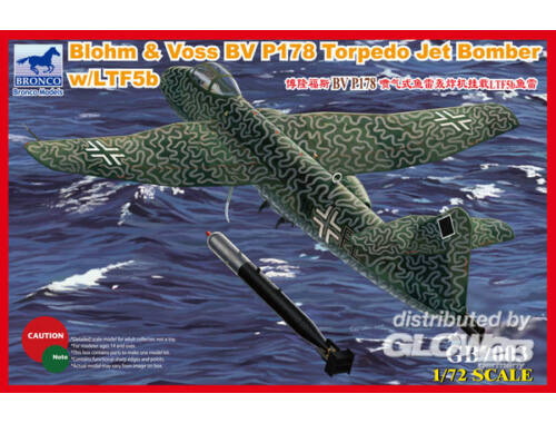 Bronco Blohm Voss P178 Torpedo Jet Bomber w/LTF5b Torpedo 1:72 (GB7003)