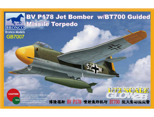 Bronco BV P178 Jet Bomber w/BT700 Guided Missile Torpedo 1:72 (GB7007)