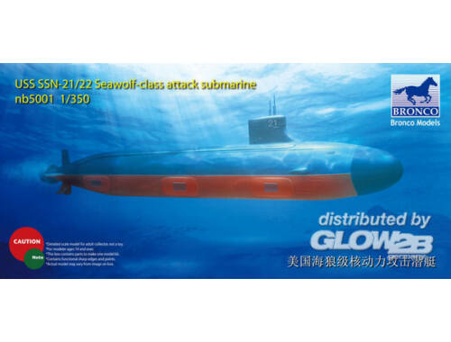 Bronco USS SSN Sea-Wolf attack submarine 1:350 (NB5001)