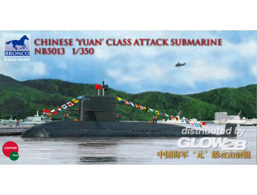 Bronco Chinese'Yuan'class Attack Submarine 1:350 (NB5013)